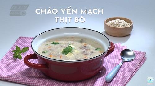 cách nấu cháo yến mạch cho bé ăn dặm thịt bò cần tây
