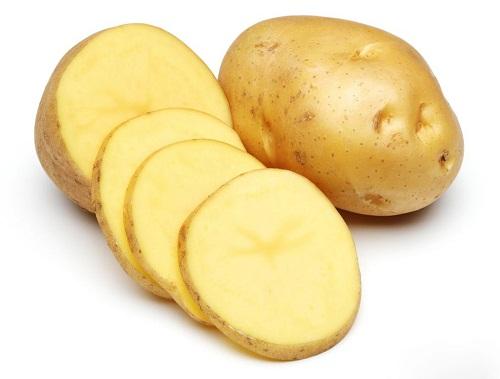 Sử dụng những lát mỏng khoai tây