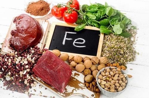 nhóm thực phẩm bổ sung sắt cho người thiếu máu