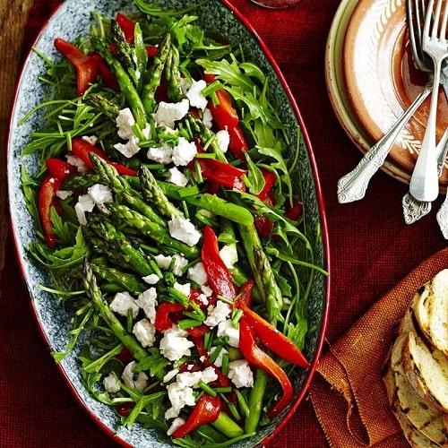 Salad măng tây - món ngon với măng tây xanh