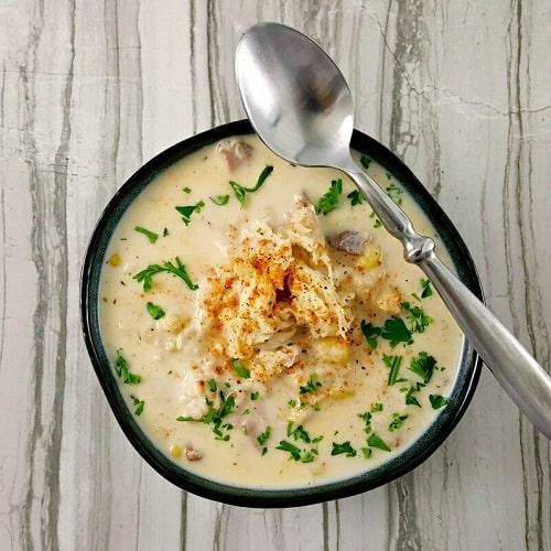 Món súp măng tây cua